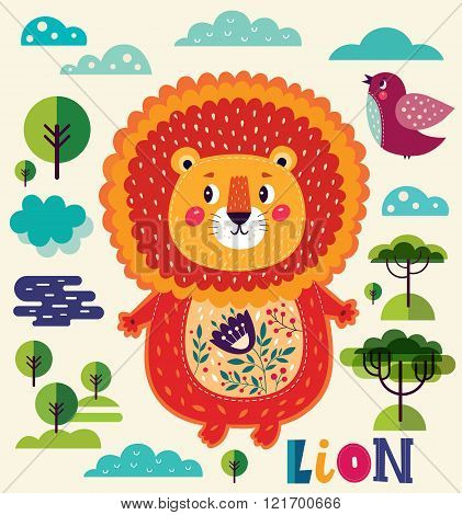 The cute lion