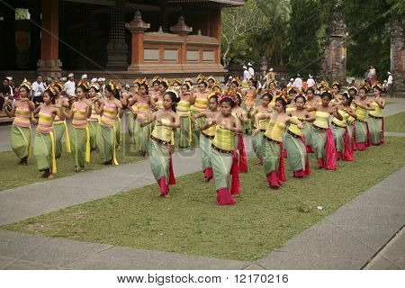 young girls dancing in temple ceremony