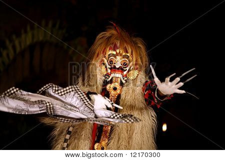 Das éveil Monster verwandelt, Bali-theater