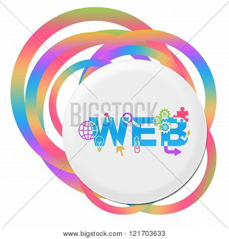 Web Design Random Colorful Rings