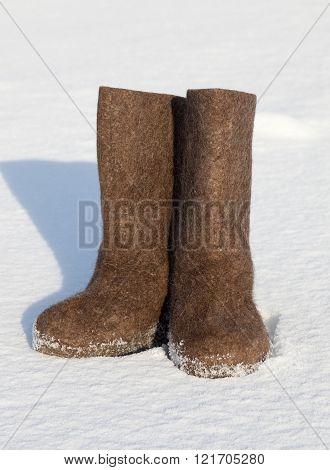 Valenki On White Snow