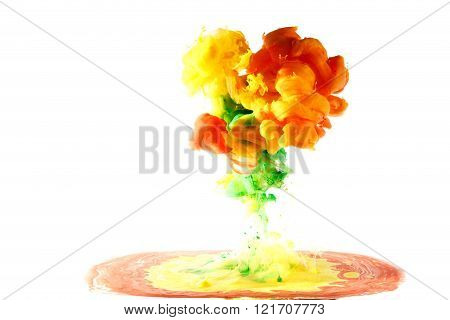 Motion Multicolor Liquid Formed Shape