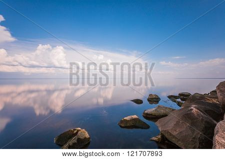 Clouds Reflection In Water..