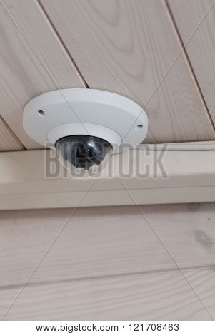 Ceiling CCTV. Security. Ceiling camcorder. Roof mounted Surveillance Camera.