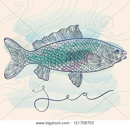 Engravin fish