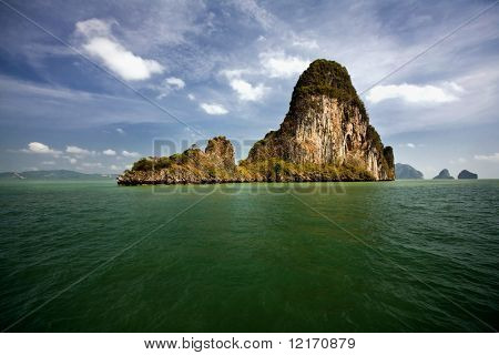 island in emerald sea