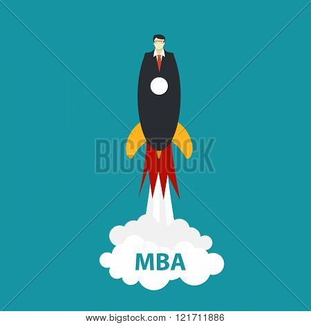 Business MBA Education Concept. Trends and innovation in educati