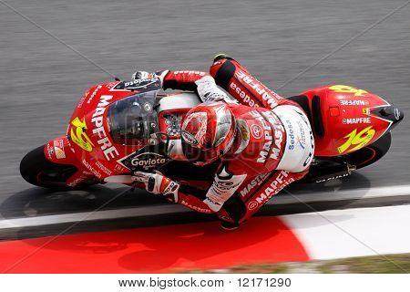 Sepang, MALAYSIA - 17 October: 250cc rider Alvaro Bautista in action at the World MotoGP championship races held in Malaysia. 17 October 2008 in Sepang International Circuit Malaysia
