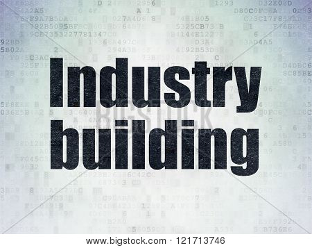 Industry concept: Industry Building on Digital Paper background