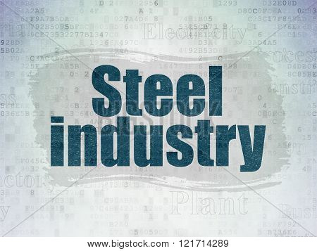 Manufacuring concept: Steel Industry on Digital Paper background