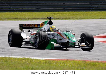 epang, MALAYSIA - 21 November: Team Mexico in action at the World A1 GP championship races held in Malaysia. 21 November 2008 in Sepang International Circuit Malaysia.