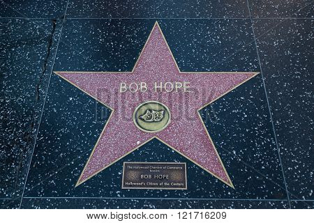 Bob Hope Hollywood Star