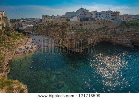 Polignano A Mare, Scenic Town In Puglia, Southern Italy