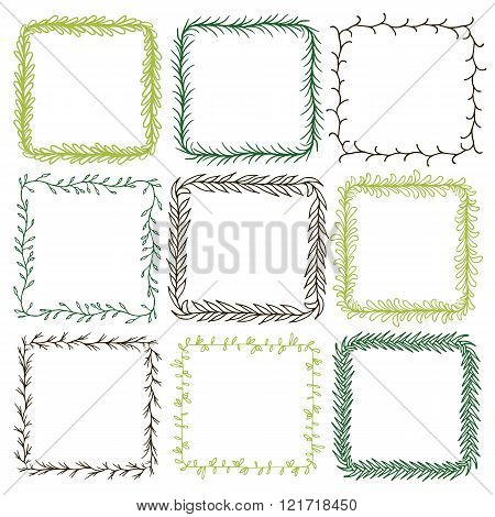Set of 9 decorative square frames