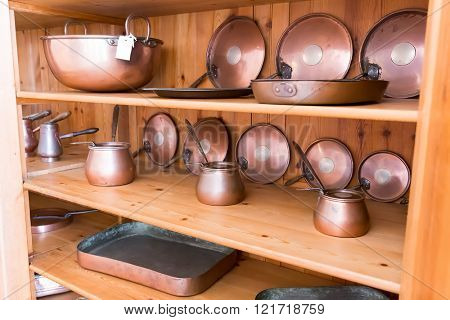 Old ibriks and pans