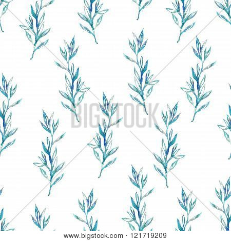 Watercolor Spring Seamless Pattern.