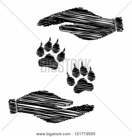 Animal Tracks sign