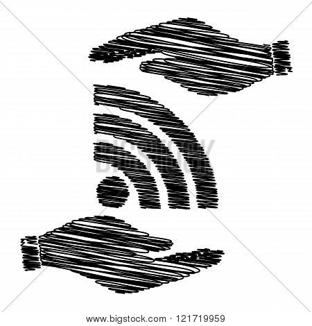 RSS sign with scribble effect