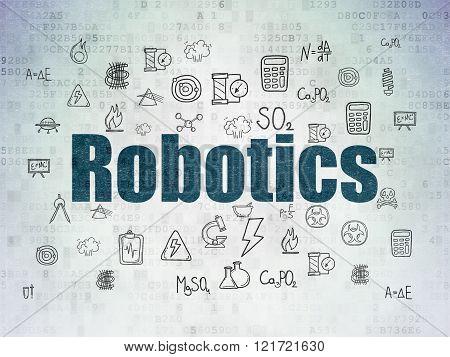 Science concept: Robotics on Digital Paper background