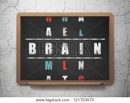 Healthcare concept: Brain in Crossword Puzzle