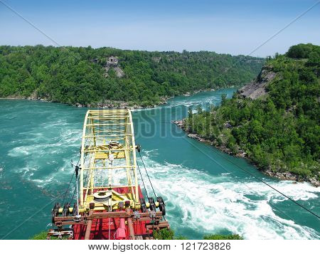 Cable Car Over the Whirlpool on Niagara River, Ontario, Canada
