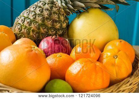 Fresh Fruit In A Basket