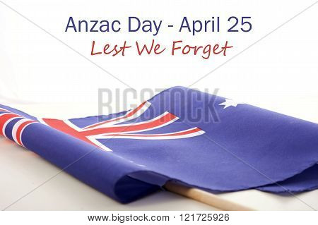 ANZAC Day Australian Folded Flag