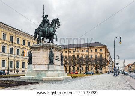 Germany, Munich. Statue of King Ludwig I