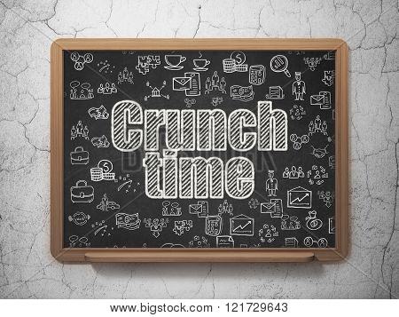 Business concept: Crunch Time on School Board background