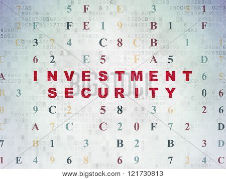 Security concept: Investment Security on Digital Paper background