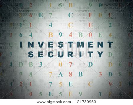 Privacy concept: Investment Security on Digital Paper background