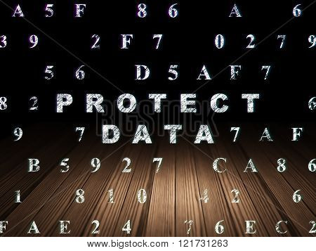 Safety concept: Protect Data in grunge dark room