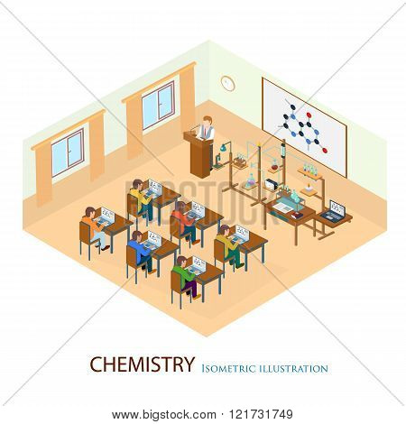 The professor gave a lecture on chemistry standing.