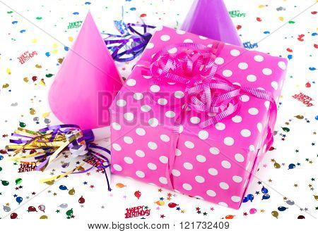 Pink With White Polka Dot Present