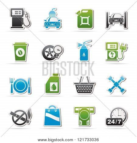 Gas Station Services Icons