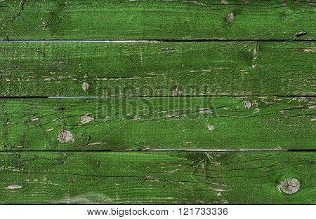 Old Green Wood Grunge Texture. Horizontal