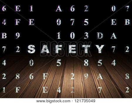 Security concept: Safety in grunge dark room
