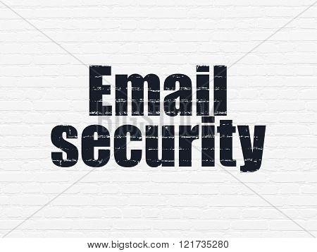 Safety concept: Email Security on wall background