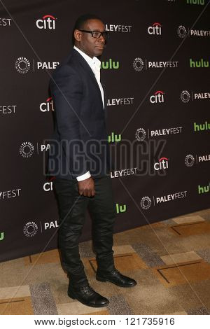 LOS ANGELES - MAR 13:  David Harewood at the PaleyFest Los Angeles - Supergirl at the Dolby Theater on March 13, 2016 in Los Angeles, CA