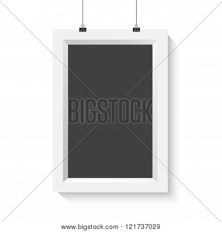 Vector Vertical Poster Frame Mockup. Realistic Vector EPS10 Pape