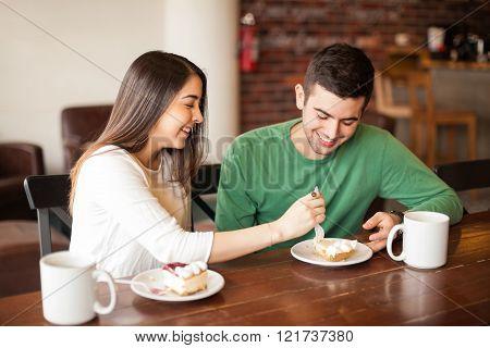 Stealing food from my boyfriend