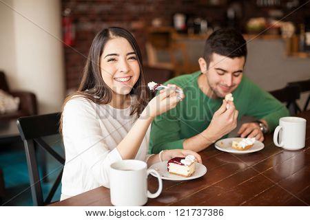 Beautiful Hispanic girl on a date