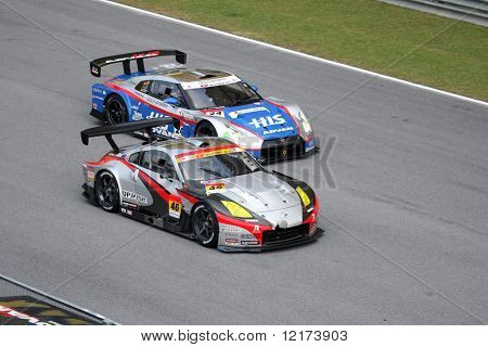 SEPANG, MALAYSIA - JUNE 21: The Up Start Mola Z car (46) in action during the Super GT International Series Round 4 race. June 21, 2010 in Sepang Malaysia.