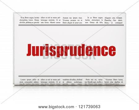 Law concept: newspaper headline Jurisprudence