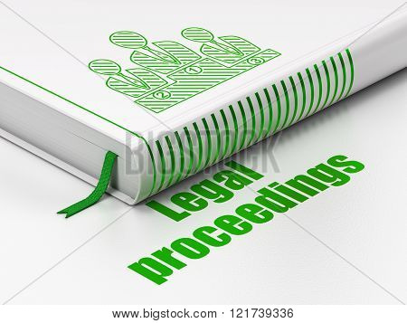Law concept: book Business Team, Legal Proceedings on white background