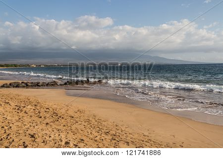 Beautiful beaches and coastline of West Maui, Kihei, Lahaina, Kaanapali, Green vegetation, blue and green waters, warm weather, magnificent coast