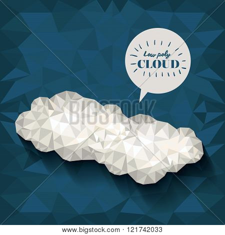 clouds low poly design