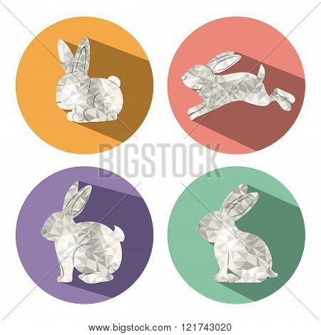 rabbit  low poly  design