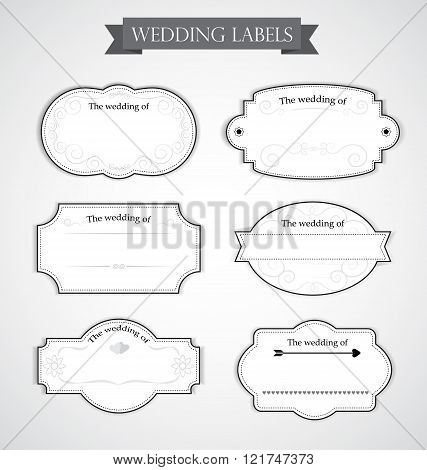 Vintage Wedding Labels