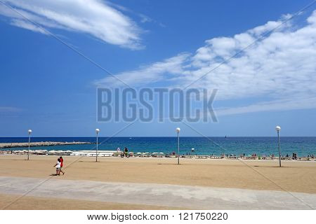 Barcelona beach view